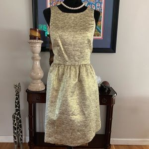 Kensie matallic gold & black cocktail dress size M